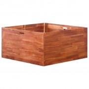 vidaXL Jardinieră de grădină, lemn de acacia, 100 x 100 x 50 cm