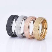Dames Ringen voor stelletjes Basisontwerp Roestvast staal Ronde vorm Sieraden Voor Bruiloft Feest Speciale gelegenheden Dagelijks Causaal