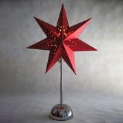 Best Season Estrella LED Cellcandle, estrellas, cromo/rojo