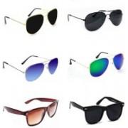 Sulit Aviator, Wayfarer Sunglasses(Black, Blue, Green, Black, Brown, Black)