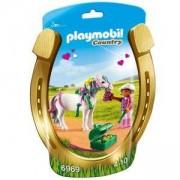 Комплект Плеймобил - Ездач с пони със сърца, Playmobil, 2900182