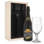 YourSurprise Coffret à bière avec verre gravé - Cuvée du Château