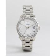 Fossil Серебристые часы-браслет Fossil ES4317 Scarlette - Серебряный