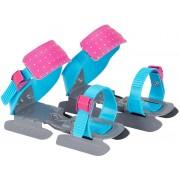 Nijdam justerbara skridskor med dubbla skenor blå/rosa/grå