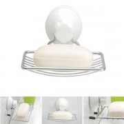 Durable Bathroom Shower Accessory Wall Mounted Strong Suction Soap Dish Holder Tray