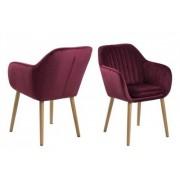 D2 Krzesło Emilia Velvet bordowe