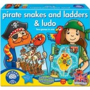 Jucarie educativa Orchard Toys Pirate Snakes And Ladders and Ludo
