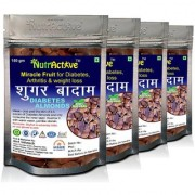 NutrActive Unpleed Sky Fruit Seed Anti Diabetes Natural Seed Kadwa Badam Sugar Badam - 150gm (Pack of 4)