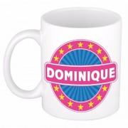 Bellatio Decorations Voornaam Dominique koffie/thee mok of beker