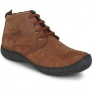 Red Chief Brown Mid Ankle Leather Boot For Men (PF3470 074)