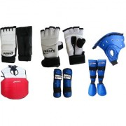 PROSPO Hi-Tech Full KIt for Taekwondo (Foot Guard Hand Gloves Chest Guard Arm Guard Head Guard Shin Step)