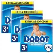 Dodot Fraldas Dodot bebé-seco Extra T3 234 uds