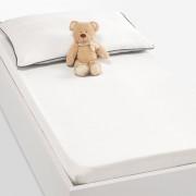 La Redoute Interieurs Lençol-capa liso para bebé, puro algodão (lote de 2), XELIEBranco- 60 x 120 cm