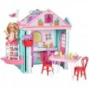 Set de joaca Barbie 7 x 34.3 x 26.7 cm casa lui Chelsea cu accesorii si papusa Chelsea multicolor