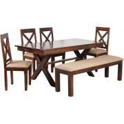 Harshita Handicraft's trendy homez 6 seater dining set