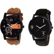 R P S fashion new look letest model to combo pack of 2 men watch