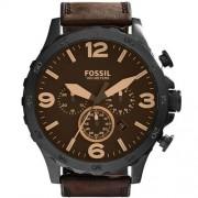 Relógio Fossil Nate Couro Masculino JR1487/0MN