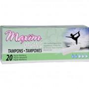 Maxim Hygiene Organic Cotton Non Applicator Tampons Regular - 20 Tampons
