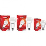 Eveready 18W 18W 9W-6500K Cool Day Light pack of 3 Led Bulbs