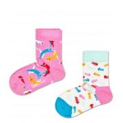 Happy Socks Sokken 2-Pack Cat Socks Roze