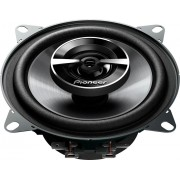 """Pioneer - G Series 4"""" Speakers. Each speaker with polypropelyne/mica wooder and a rubber coated cloth surround. - Black"""