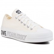 Кецове CONVERSE - Ctas Lift Ox 567312C Egret/White/Black