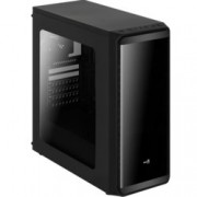 Кутия AeroCool SI-5200 Window, ATX/Micro-ATX/Mini-ITX, USB 3.0, 1x 120mm вентилатор, прозорец, черна, без захранване