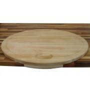 CUCINEOGGI TABLA DE COCINA DE CORTE OVALADA NOVEDAD - Tabla Ovalada con pequeño faldón (620 x 410 x 25 mm)