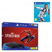 КОНЗОЛА SONY PS4 500GB SLIM CONSOLE + MARVELS SPIDER-MAN BUNDLE - BLACK+Игра FIFA 19 за PlayStation 4