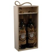 Kazeta na 2 vína prosklená