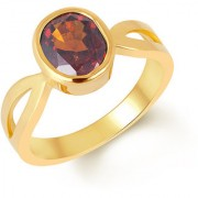 Kundali Garnet Gomed Red Coloured Original Stone with Premium Quality 18kt Gold Gemstone Ring and Certificate