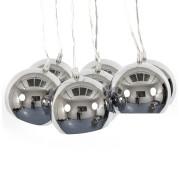 Suspension design 'BILBO' 7 boules métal suspendues