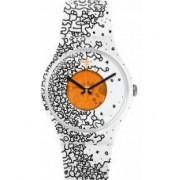 Swatch Orange Pusher Watch