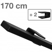 IVOL Design trapleuning zwart rechthoekig - 170 cm + 2 houders