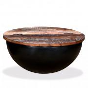 Sonata Маса за кафе, регенерирано дърво масив, черна, форма на купа