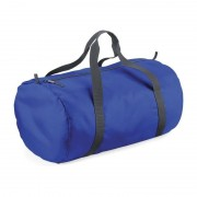 Bagbase Kobalt blauwe ronde polyester sporttas/weekendtas 32 liter - Sporttassen