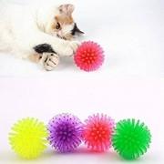 Tradico® 10X Colorful Balls Cat Toys Sm & Bulk Colorful Soft Plastic Ball Roll Quiet-Play