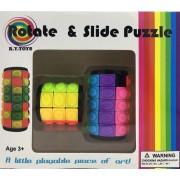 2db-os 3D forgatós és csúsztatós stresszoldó színhenger puzzle ügyességi játék - No.3100C
