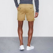 River Island Mens Tan brown rolled hem chino shorts (Size 30)