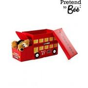 Pretend to Bee Childrens Dress up Storage Toy Box (London Bus)