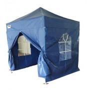 Partytent PVC Easy Up 2,4 x 2,4 meter HEX met zijwanden in Blauw