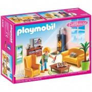 Playmobil dollhouse soggiorno con stufa