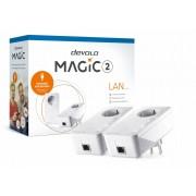 Devolo Magic 2 LAN,Starter Kit,Velocidade Powerline até 2400Mbps c/ 1 Porta LAN- PT8267