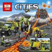 Lepin 889Pcs New City Series The Volcano Exploration Base Set Children Building Blocks Brick Model Educational Toys For Children