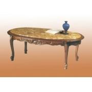 Conchiglia - kisméretű kisasztal márványlappal - bézs vagy rózsaszín