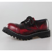 stivali in pelle donna - STEEL - 101/102 Red Black-Burgund