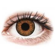 Brown Honey contact lenses - natural effect - Air Optix