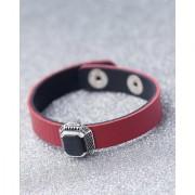 Dare by Voylla Black Stone Studded Milestone Leather Bracelet