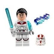 Lego Jek-14 Star Wars Minifigure - Complete (White Lightsaber Helmet Hair-Piece & Lightning)