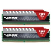 Patriot memorija (RAM) 16GB (2x 8GB) DDR4 2400 1.2V CL15 DIMM Viper Elite Red, kit (PVE416G240C5KRD)